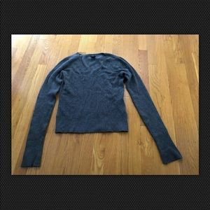 Gap Stretch Juniors Gray V-Neck Sweater - Size M